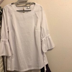 New! Counterparts White 3/4 Sleeve Blouse L